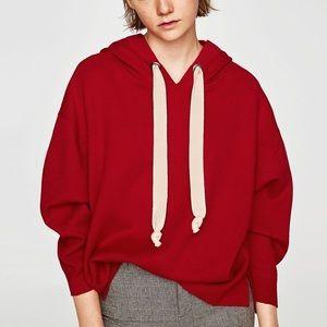 Zara Oversized Hoodie Sweatshirt